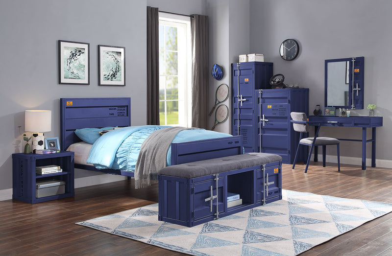 Cargo Blue Twin Bed