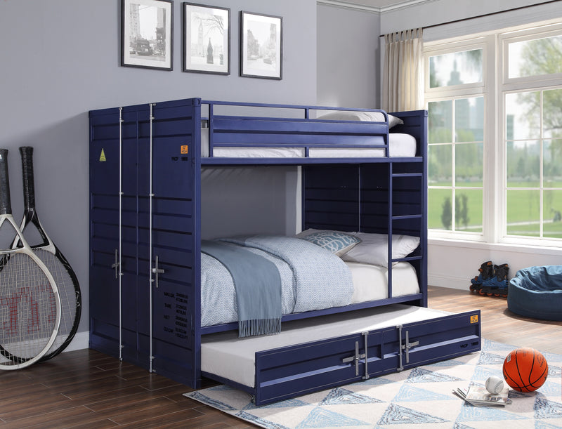 Cargo Blue Bunk Bed (Full/Full)
