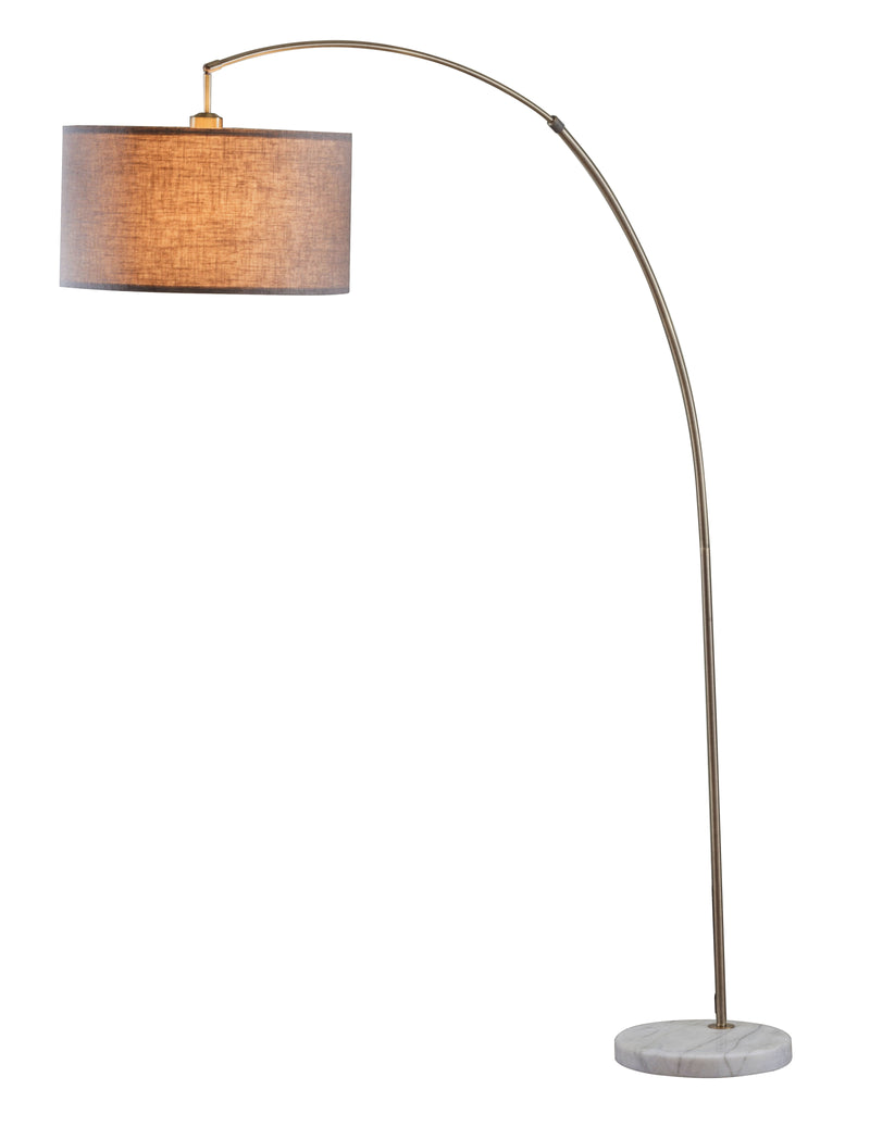 Cagney Antique Brass & Marble Floor Lamp