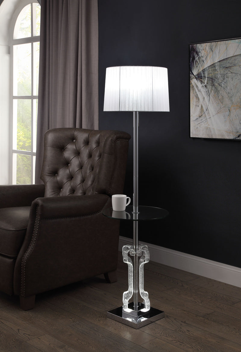 Melinda Clear Acrylic & Chrome Floor Lamp