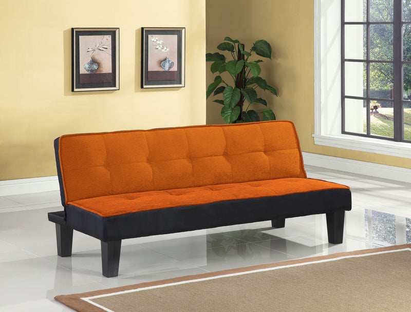 Hamar Orange Flannel Fabric Adjustable Sofa image