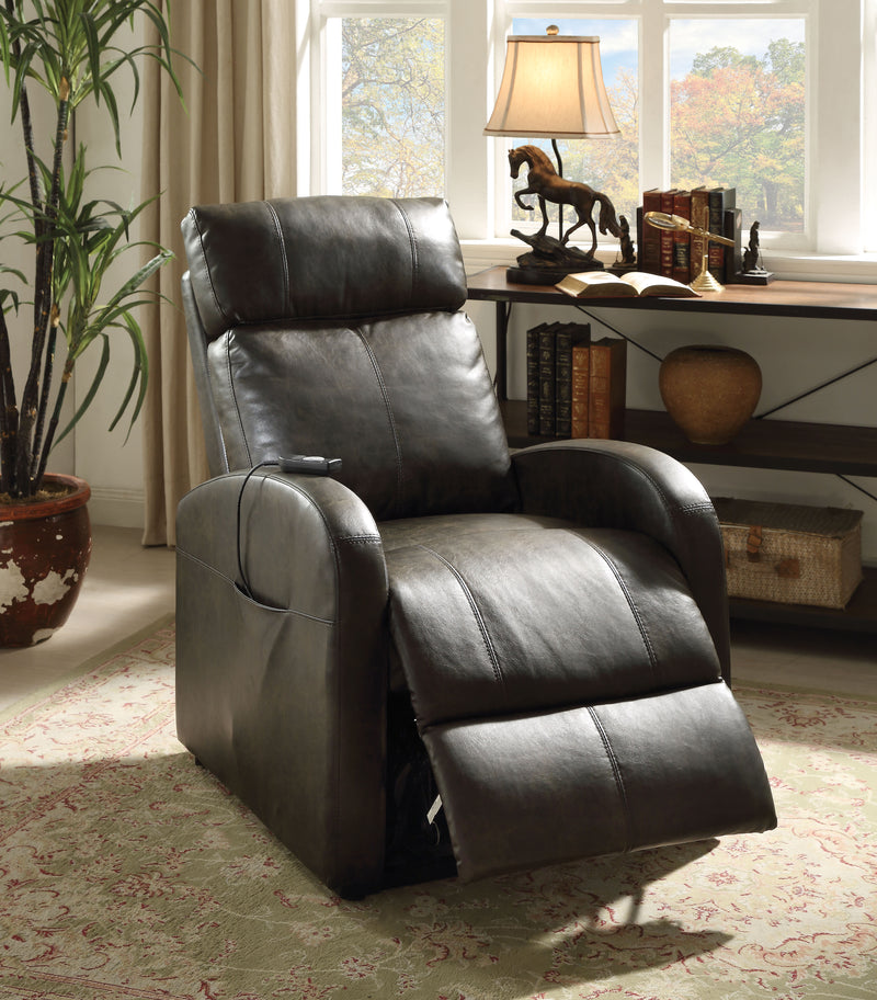 Ricardo Dark Gray PU Recliner w/Power Lift