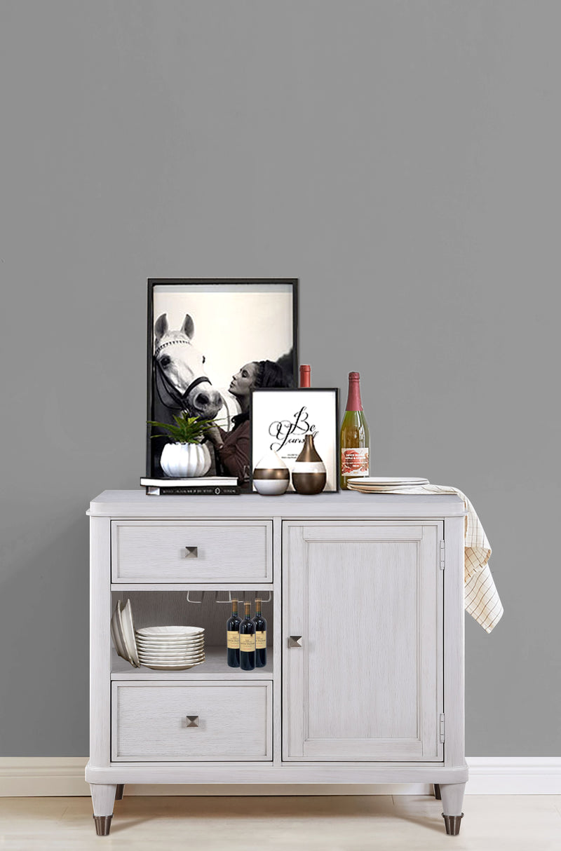 Celestia Off White Wine Cabinet