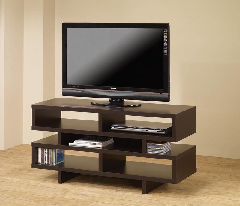 G700720 Contemporary Cappuccino Open Storage TV Console image