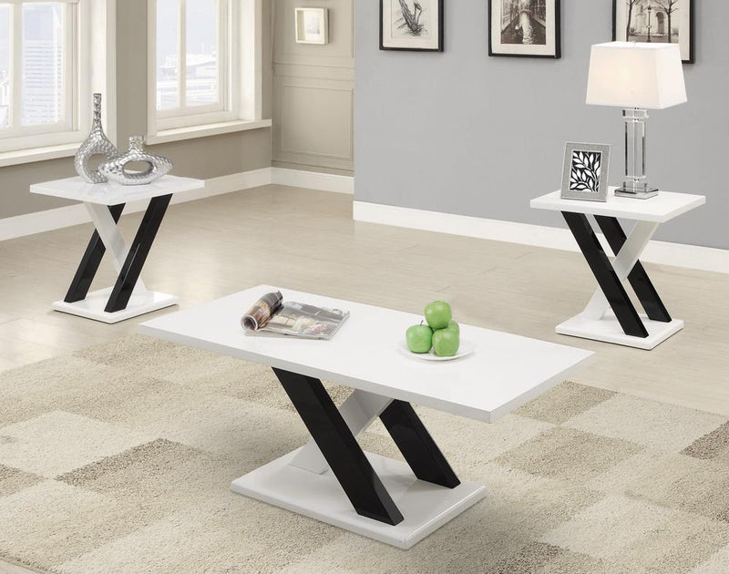 G701011 Contemporary White Three-Piece Table Set image