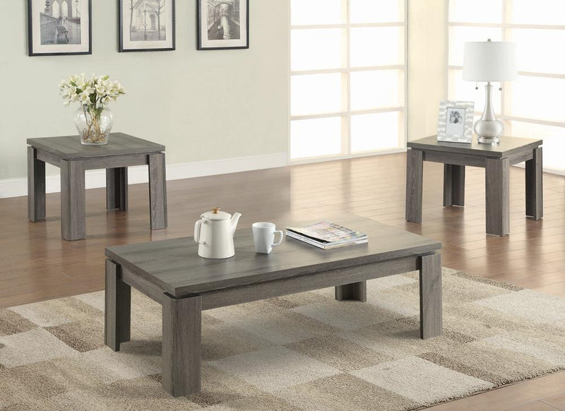G701686 Occasional Table Sets Contemporary Distressed Grey Three-Piece Set image