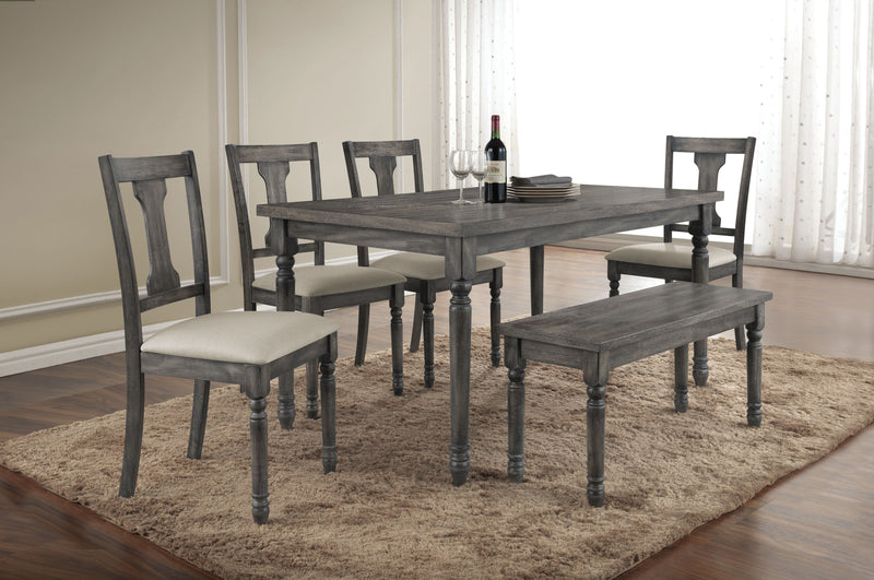 Wallace Weathered Gray Dining Table