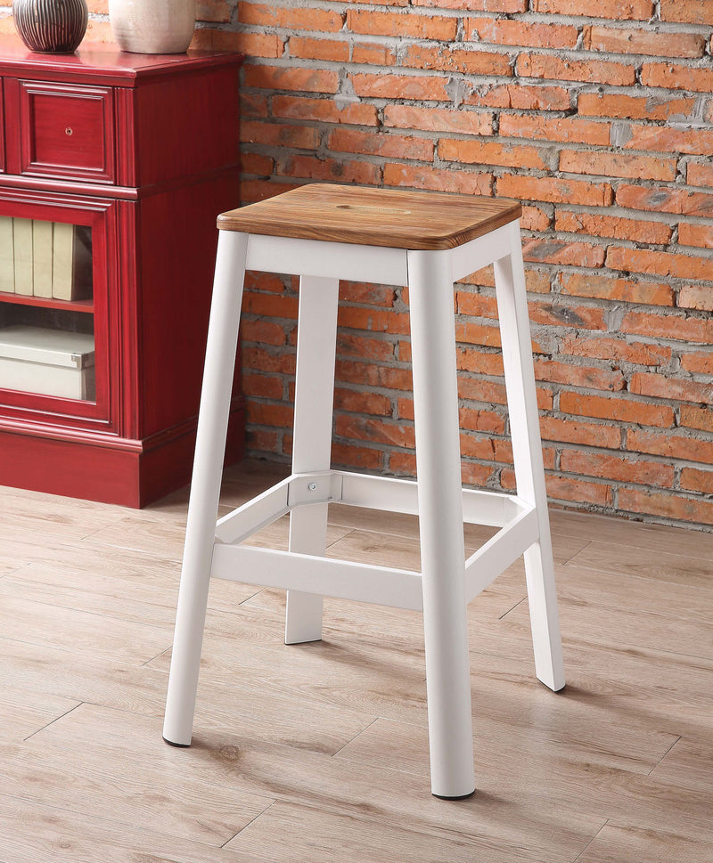 Jacotte Natural & White Bar Stool (1Pc)