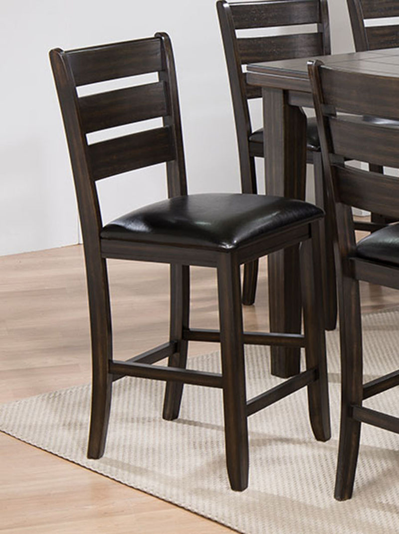 Acme Furniture Urbana Counter Height Chair in Black and Espresso (Set of 2) 74633 image
