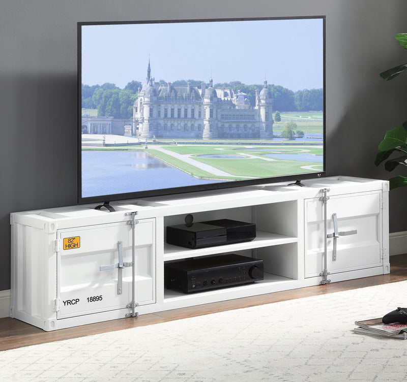 Cargo White TV Stand