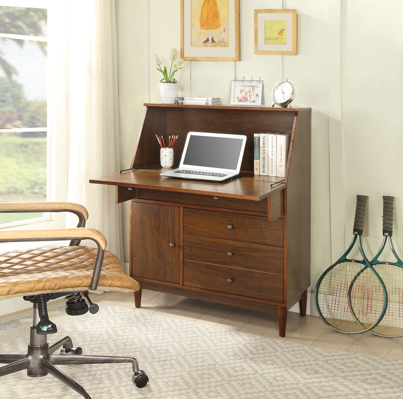 Wyanie Walnut Office Armoire
