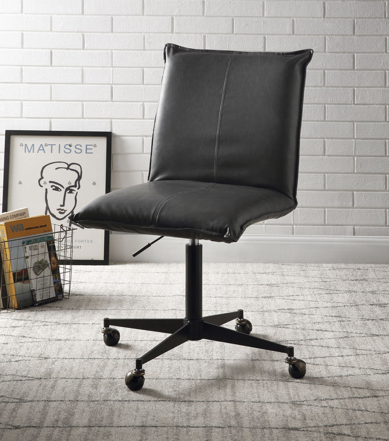 Airmont Onyx PU & Black Office Chair w/Lift
