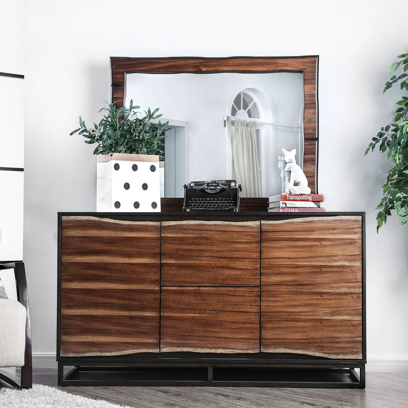 Fulton Dark Oak/Dark Walnut Dresser