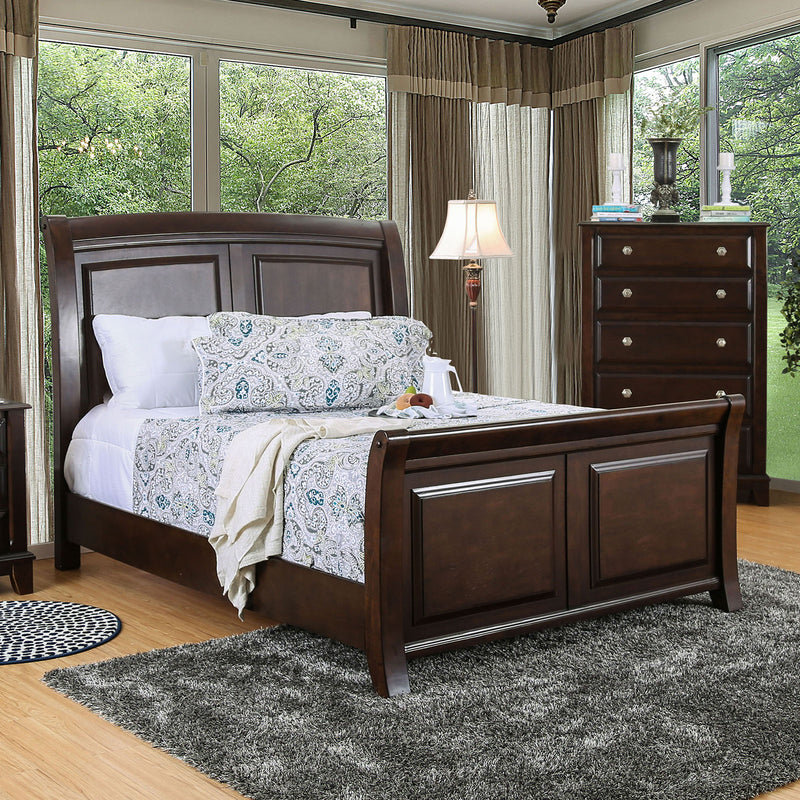Litchville Brown Cherry Cal.King Bed