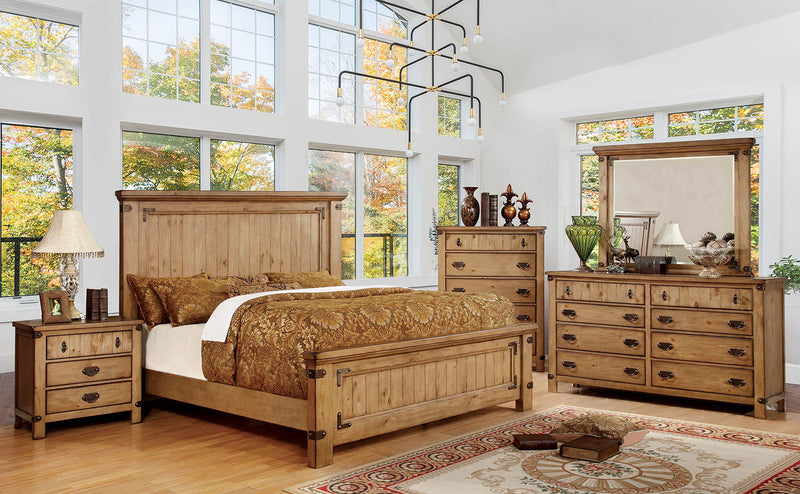 PIONEER Weathered Elm Cal.King Bed
