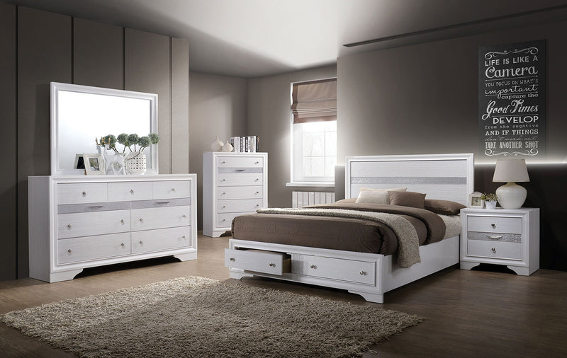 Chrissy White 4 Pc. Queen Bedroom Set
