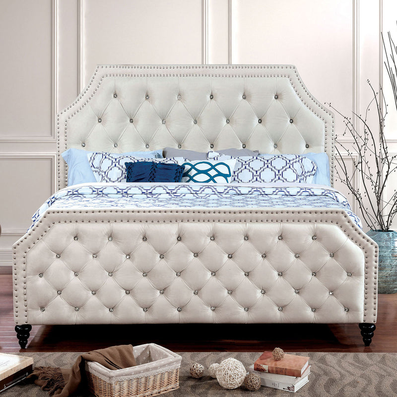 CLAUDINE Beige Cal.King Bed