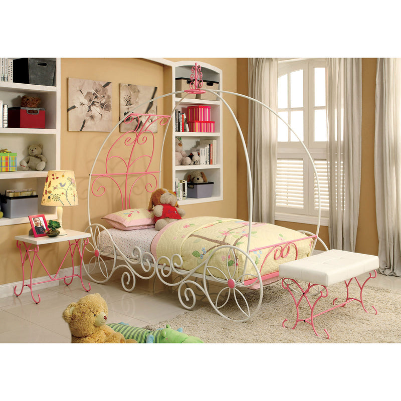 ENCHANT Pink/White Twin Bed