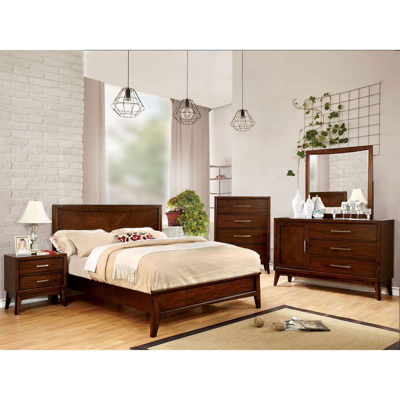 SNYDER Brown Cherry 4 Pc. Queen Bedroom Set