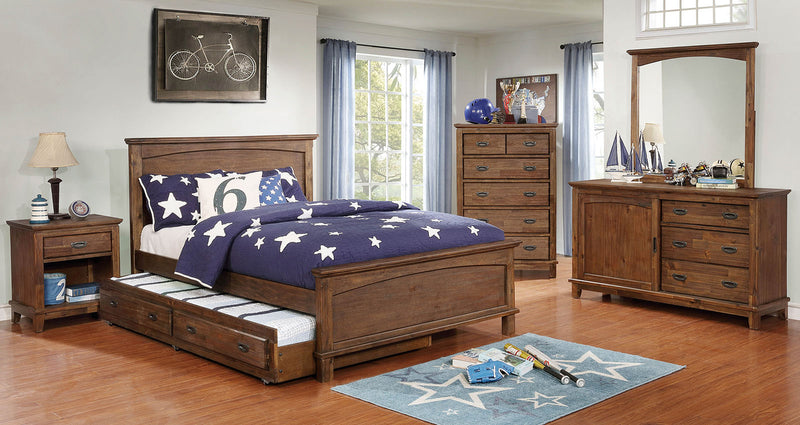 Colin Dark Oak 4 Pc. Full Bedroom Set