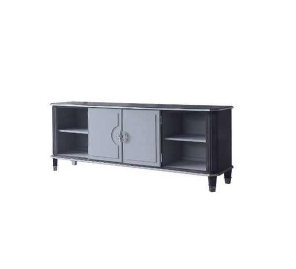 Acme Furniture House Beatrice TV Stand in Charcoal 91983 image
