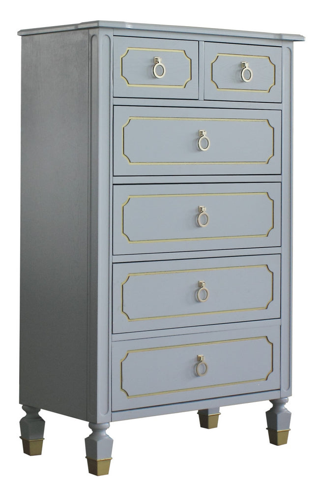 Acme Furniture House Marchese 6-Drawer Chest in Pearl Gray 28866 image