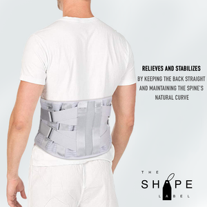 The Shape Label™ - Lumbar Belt Advanced Rugband | Medische Rugbrace Voor Onderrug & Rugpijn