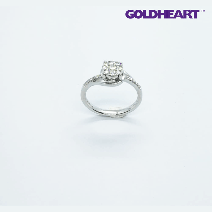 Promesse Diamond Ring | Goldheart White Gold 750 (18K) (R3737)