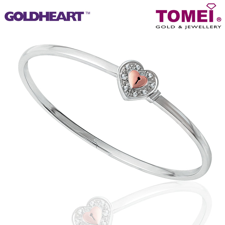Love Lock Diamond Bangle | Goldheart White Gold & Rose Gold 750 (18K) (B0892)