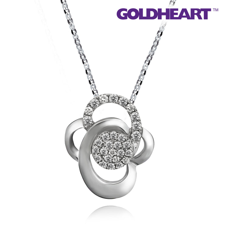 Espoir Diamond Pendant | Goldheart White Gold 375 (9K) + Palladium (P5174)