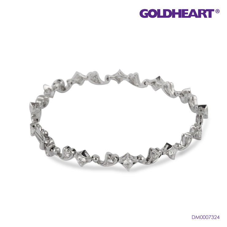 Paisley and Star Duo Diamond Bracelet | Goldheart White Gold 750 (18K) (DM0007324)