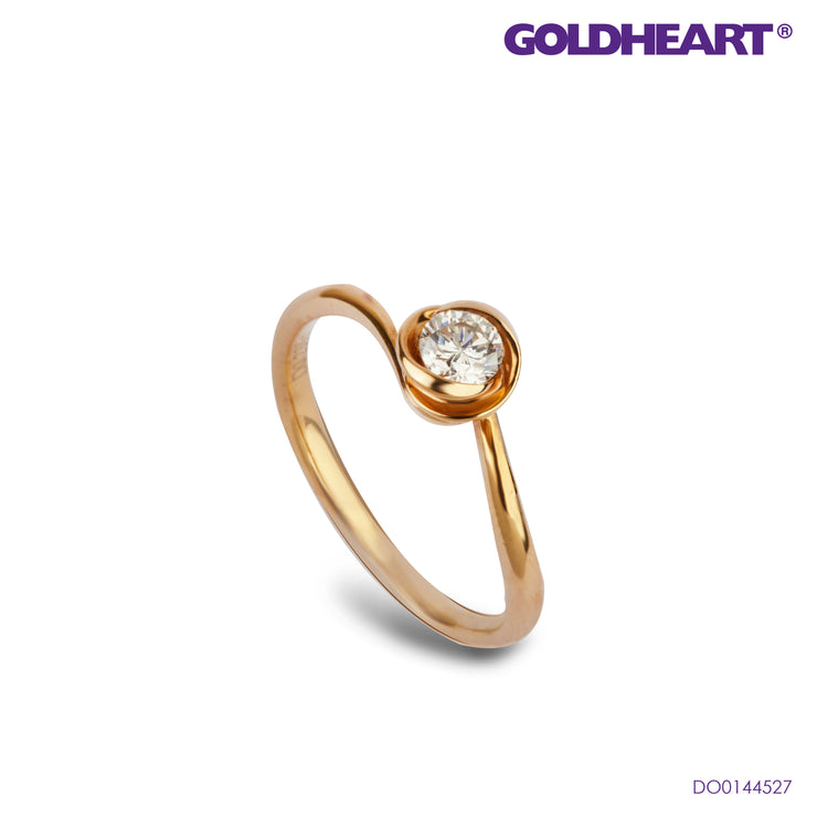 Diamond Ring | Goldheart White Gold 750 (18K) (SH-LW698)