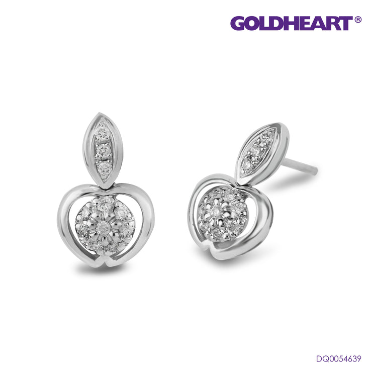 Alluringly Luminous Apple Diamond Earrings | Goldheart White Gold 750 (18K) (HQ45378)