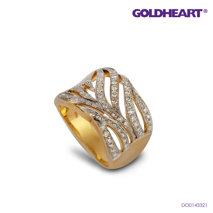 Diamond Ring | Goldheart White Gold 750 (18K) (R1569)