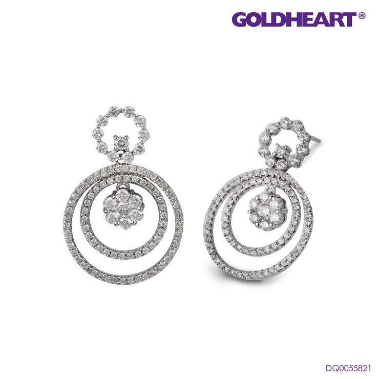 Majestically Glamorous with Diamond Earrings | Goldheart White Gold 750 (18K) (DQ0052980)