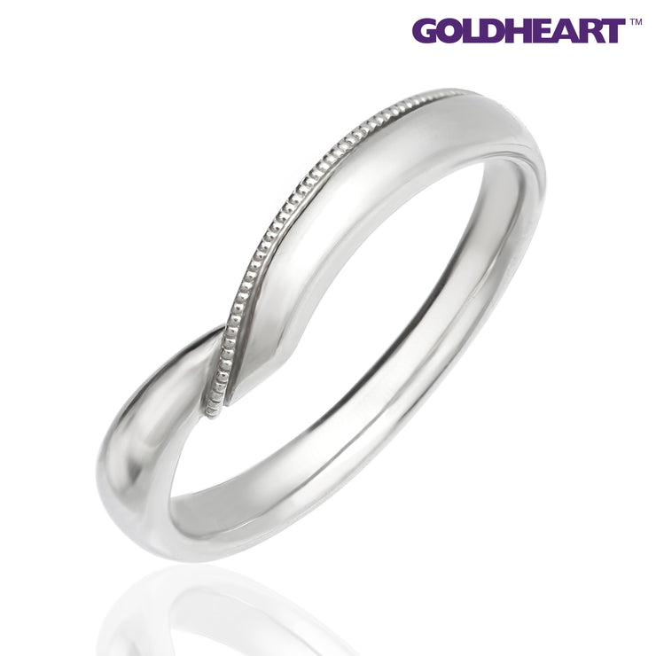 GOLDHEART PT585 Platinum Diamond Ring (M2082M)