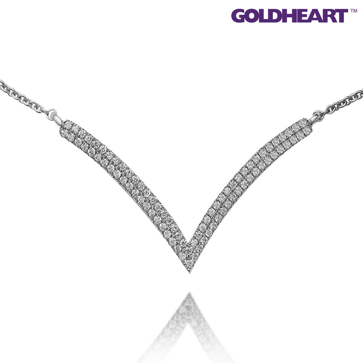 Promesse Diamond Necklace | Tomei White Gold 750 (18K) (N03257DI01)