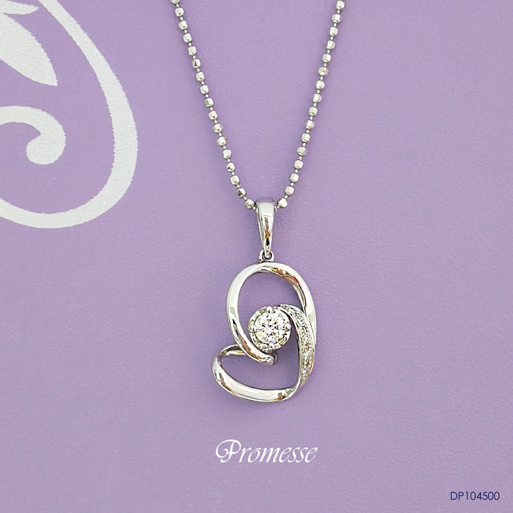 Promesse Diamond Pendant | Goldheart White gold 750 (18K) (P4801)