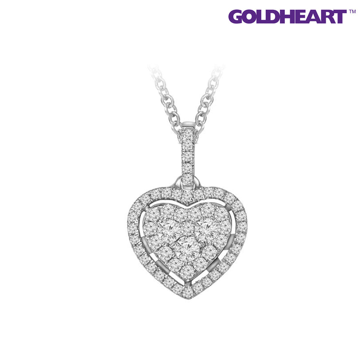 Endless Love Diamond Pendant | Goldheart White Gold 750 (18K) (P5248)