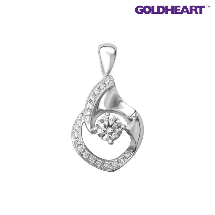 Blissful Mist Diamond Pendant | Goldheart White Gold 750 (18K) (P5283)