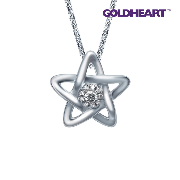 Espoir Diamond Pendant | Goldheart White Gold 375 (9K) + Palladium (P5949)