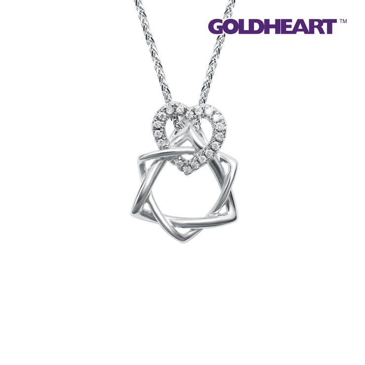 Espoir Diamond Pendant | Goldheart White Gold 375 (9K) + Palladium (P5951)