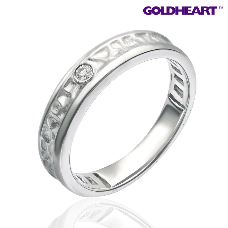 Promesse Female Diamond Ring | Tomei White Gold 750 (18K) (R4945V)