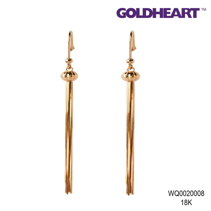 Willow Strands Drop Earrings | Goldheart Rose Gold 750 (18K)