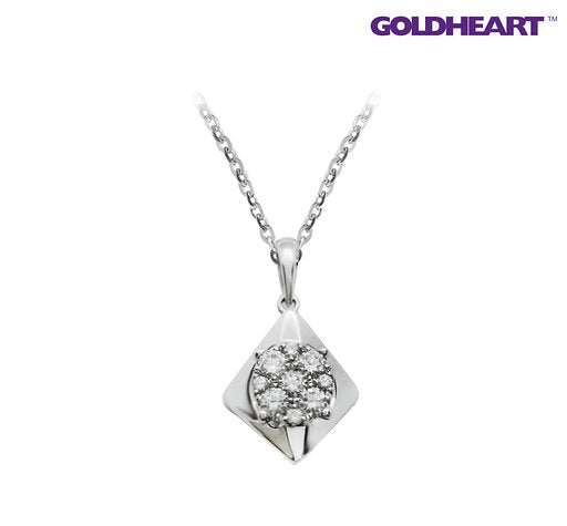 Promesse Diamond Pendant | Goldheart White Gold 750 (18K) (P4778)