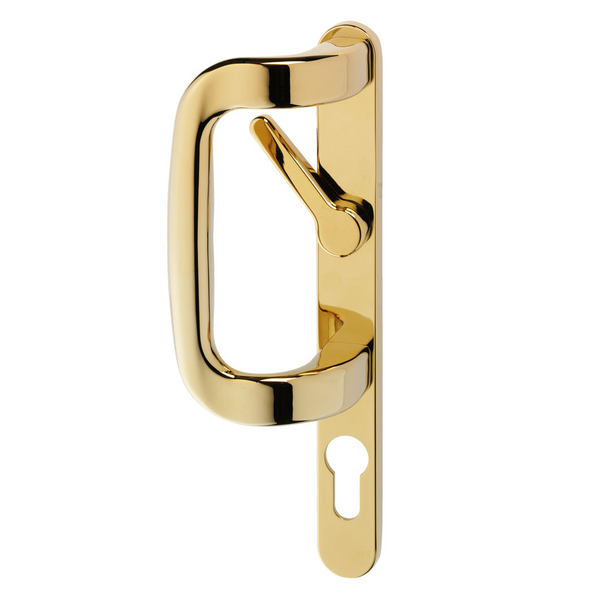 Trojan Sparta Sliding Patio Door Handle with Inline Locking Lever - Gold