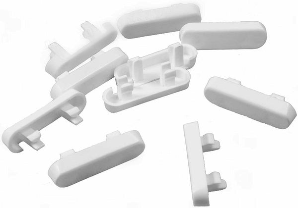 UPVC Drainage Cover Caps Weep Hole for UPVC Windows - White, Pack of 10