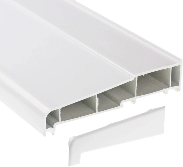 Eurocell 150mm Window Cill (Sill) Inc. end caps - White, 1000mm