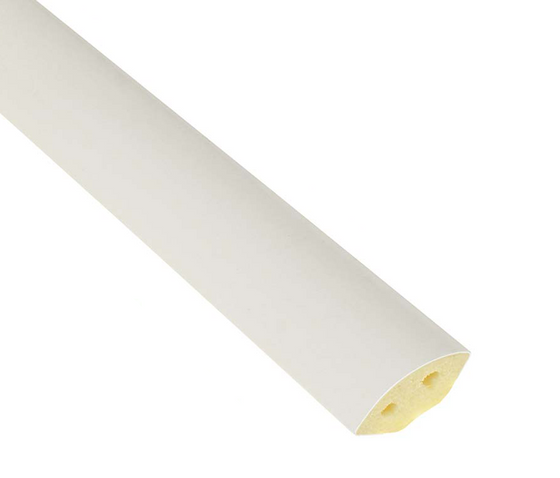 19mm UPVC Quadrant Trim Length - White, 1200mm