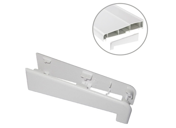 Eurocell UPVC Window and Door Cill End Caps - 1 Pair, 180mm White